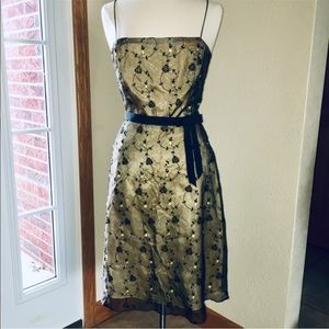 $240 New Retro Cocktail Party Embroidered Dress